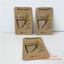 Zip Lock Custom Printed Three Side Seal Tea Sample Packet Individual Empty Tea Leaf Sachets