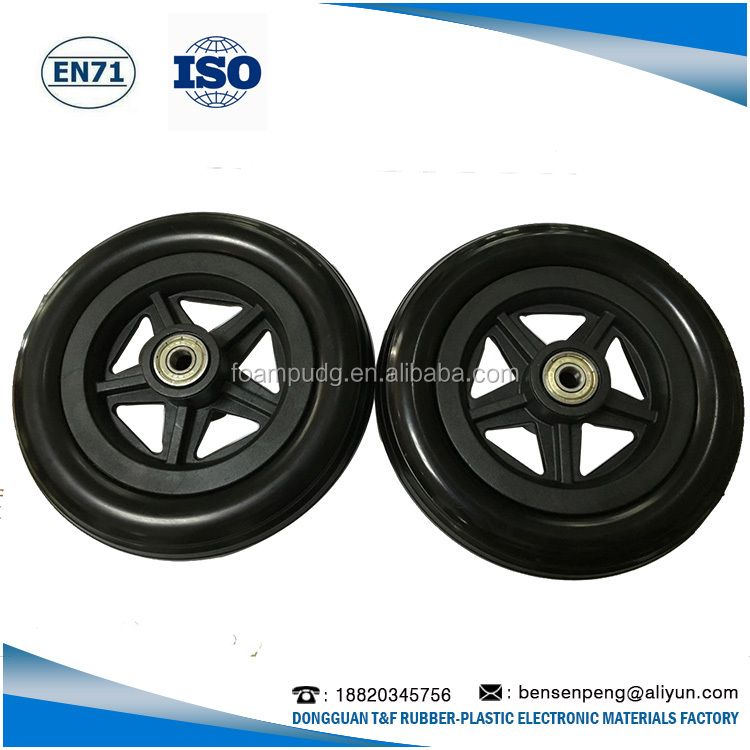 Contemporary promotional Solid PU Foam Wheel, pu foam rubber wheel