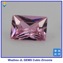 Fashion Dark Pink Octagon Shape Gems