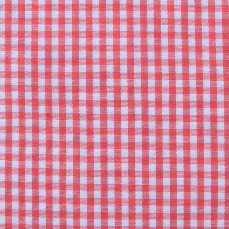 stock poplin plaid polyester/ cotton fabric
