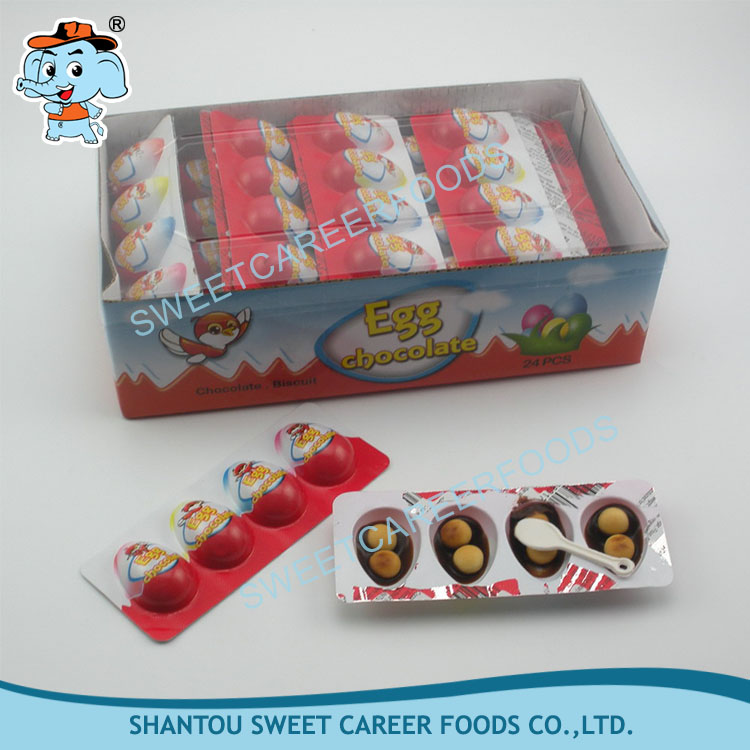 4pcs mini egg chocolate with biscuit