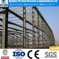 low cost prefabricated shed steel warehouse, shade structure easy assembled steel warehouse for sale