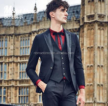 Fashion Slim Fit Black Tuxedo Men Wedding Suits