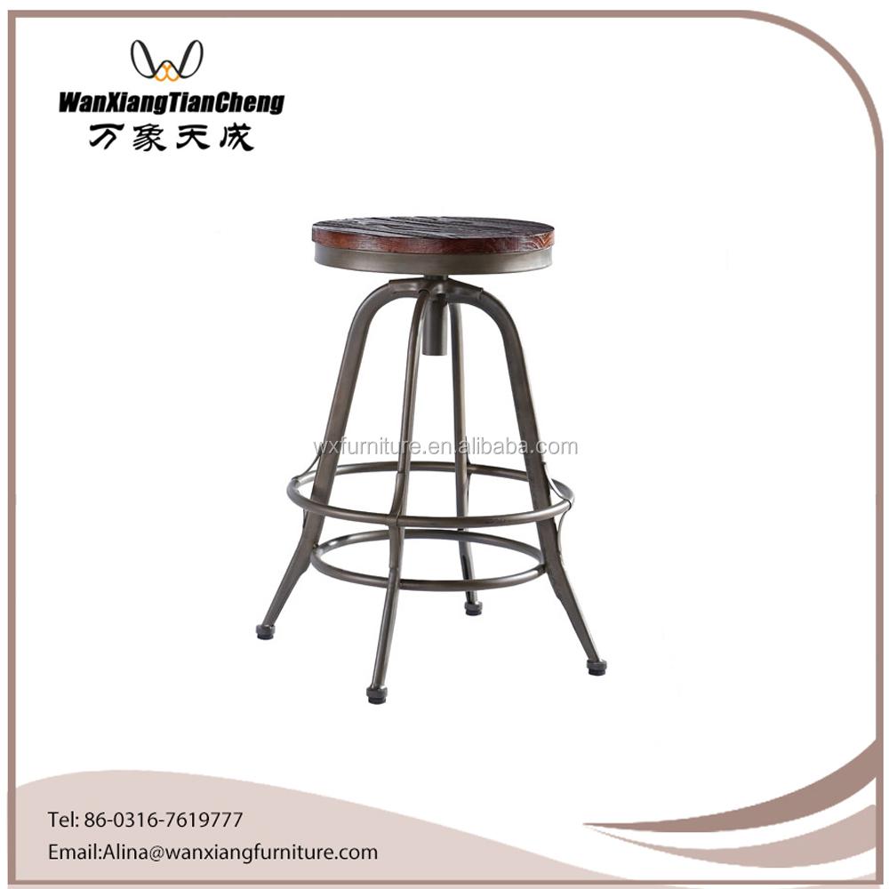 Industrial Drafting Stool Vintage Chair Steel Metal Shop