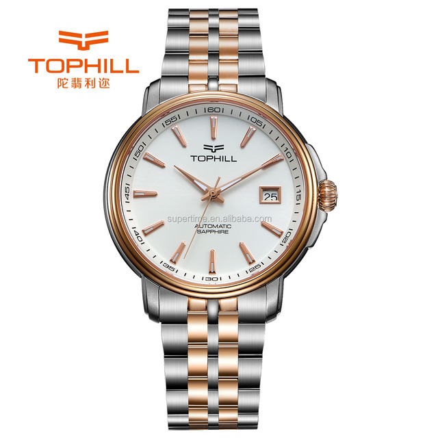Hot Sale Business Men Watches Automatic with Calendar Male Watches Rose Gold