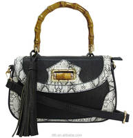 Women's Snake-embossed Leather Handbag