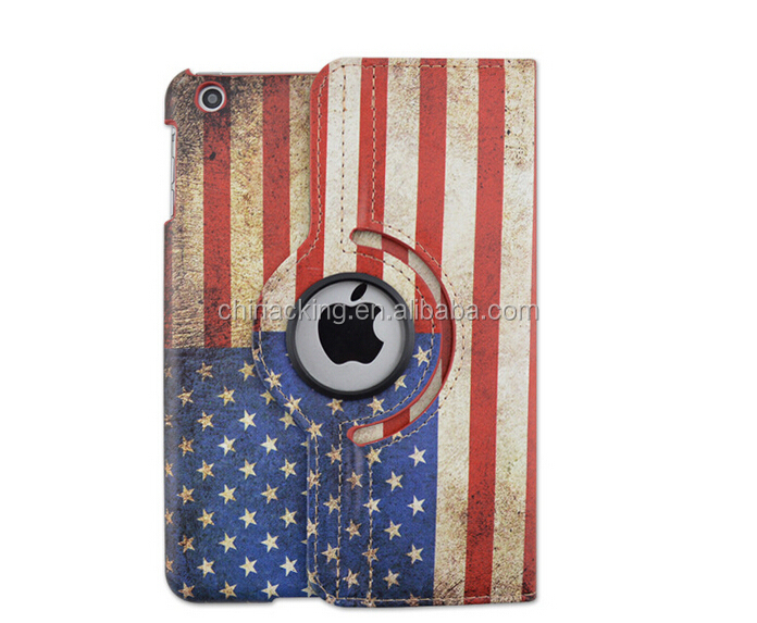Retro USA/ UK Flag Rotate Tablet Case for ipad 2 3 4