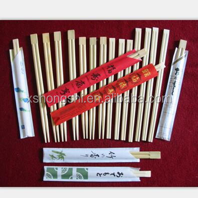 high quality Japanese Twin tensoge disposable cheap bamboo chopsticks, round bamboo chopstick