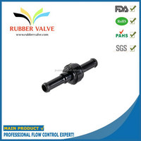in-line shut off pneumatic fitting with valve