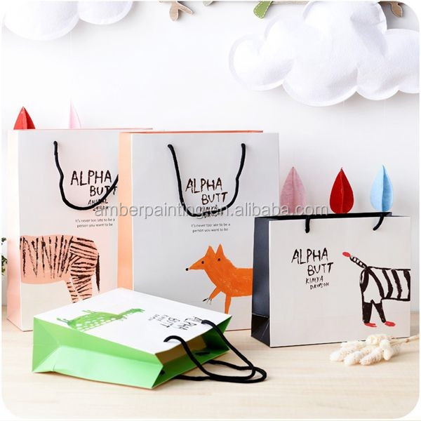 Wholesale offset printing indian paper gift bag for wedding