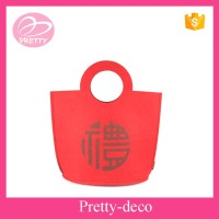 Special custome sewing felt gift bag with company logo makeup supplier Taizhou