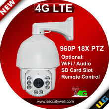 4G LTE Speed dome camera, 7inch 960P 18X waterproof IR 120m PTZ IP Camera