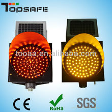 LED 300mm Solar Amber Flashing Light for Road warning