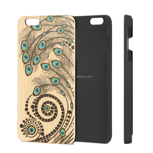 Unique and authentic pattern engrave real wood phone case for Iphone 8 , hot selling wood phone case