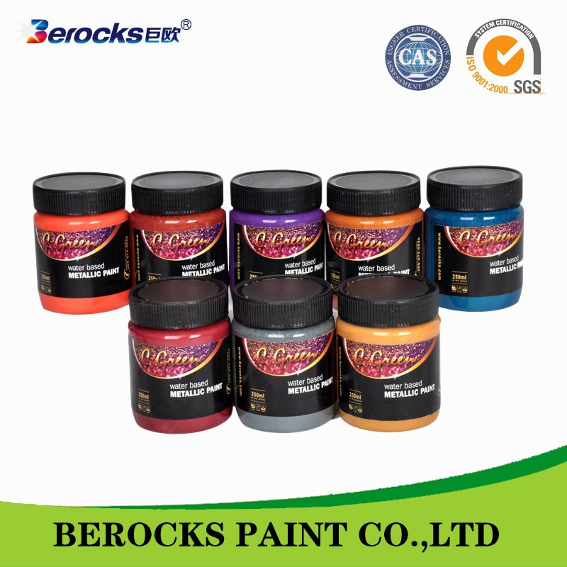water based acrylic paint set metallic paint/metal paint with good quality