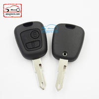 Good Price peuguot key shell for 206 blank 2 button no logo Car Key peugeot romote key cover
