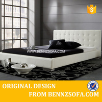 faux leather double bed ,leather bedstead ,leather king bed