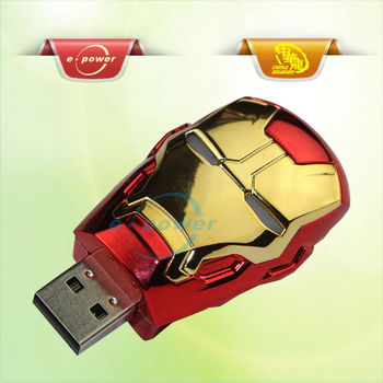 E-Power Cheap 4GB Iron Man USB Flash Drives Stick U1101