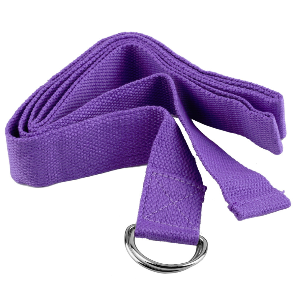 Fitness Exercise Gym Yoga Stretch Strap D-Ring Belt Figure Waist Leg