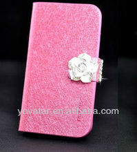 New Feather Silk Series Leather Diary Flip Case Cover Stand For iPhone 5 5G 5S