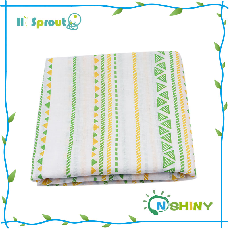 "New Arrival 47"" x 47"" size 2 layer baby muslin swaddle blanket for infant"