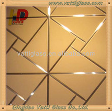 High quality sandblasting glass mirror supplier with ISO