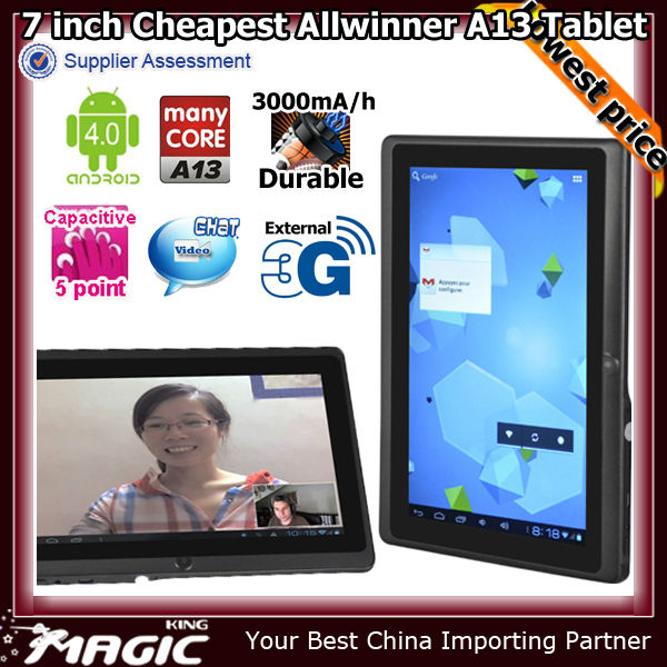 Good quality firmware android 4.2 tablet with video call in a cheapest price