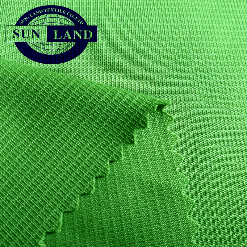 100% Polyester Anti-Static Clothing Knit Mesh Fabric for Wipes Gloves Labor Work Shirts