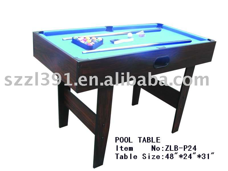 4ft MDF small pool table for sale