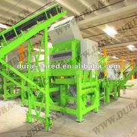 Automatic waste scrap tire recycling machine