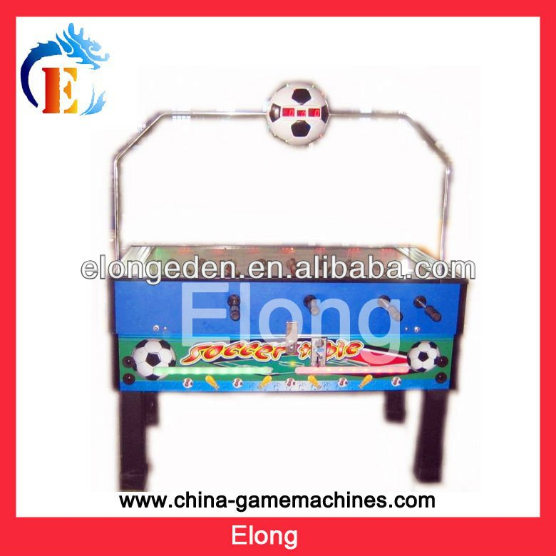 Coin operated table football soccer table game machine