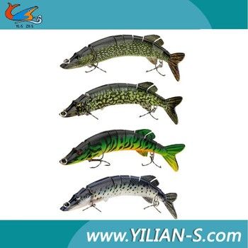 Customized Pike 2015Hot Pike Swimbait Hard Plastic Multi-jointed Fishing Lure For Fishing