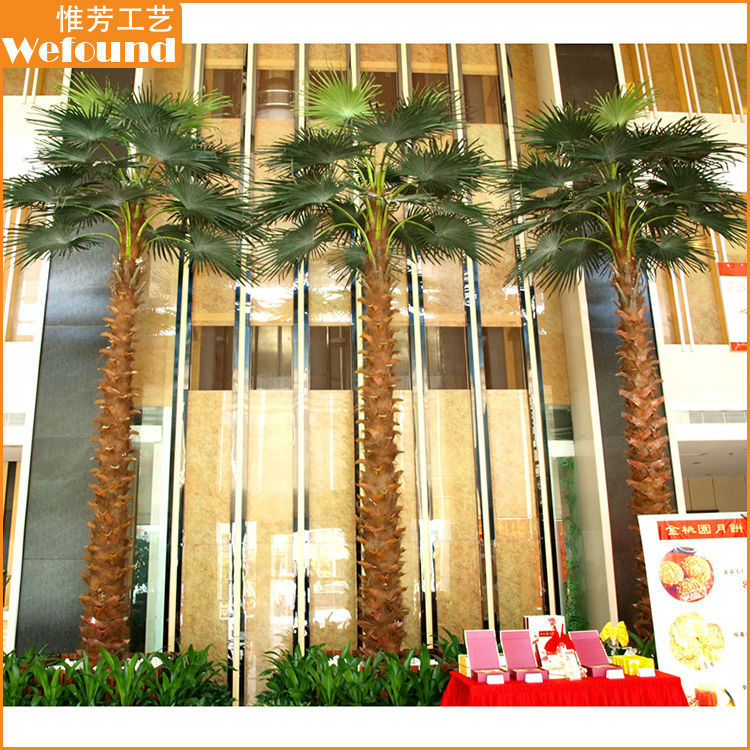 WFOUND China Regional Feature Artificial Palm Trees for Outdoor and Hotel Decoration