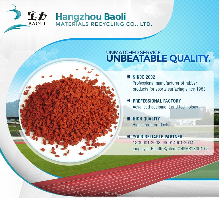 colored EPDM rubber granules for running track
