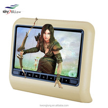 High quality seat leon car dvd headrest dvd player with wireless and build in ir and spearker