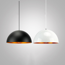 black white aluminum dome Decorative hanging Lamp big pendant light