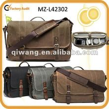 canvas camera laptop messenger bag