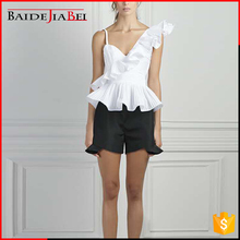 Best selling products hot women ladies white western blouse cami tops in sexy