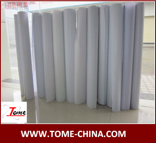 White glossy VINYL FLEX BANNER roll For distributor and trading cmpanies