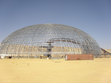 Lightweight Steel Space Frame Dome Storage roofing