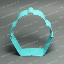 coated metal big cupcake shape cookie cutter with high quality