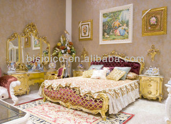 Luxury home bedroom set,european classical bedroom set,wooden hand carving(B51001)