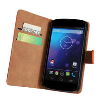 Smooth feeling Flip Cover for LG nexus 4 E960 with Stand,Wallet style case for LG nexus 4