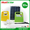 30W Portable Solar Power System with Mobile Phone Charger for Camping