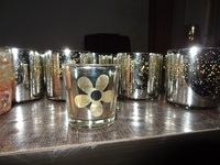 antique silver glass candle holder
