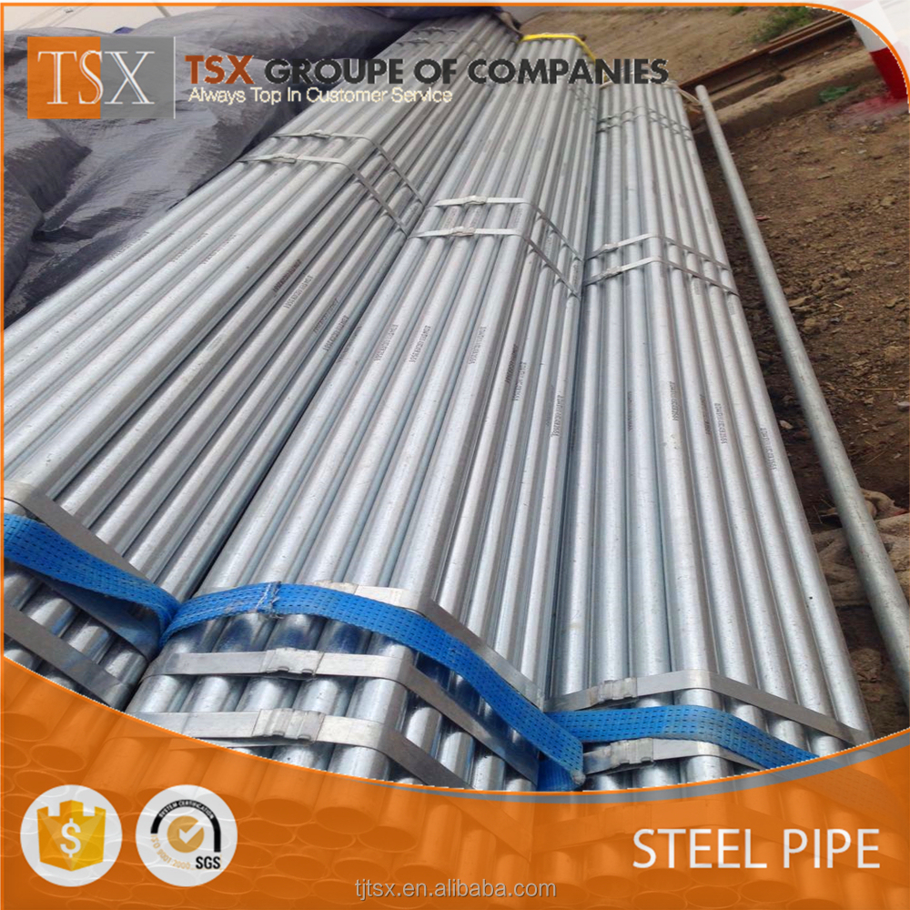 TSX-GSP2033 q195 galvanized iron scaffolding pipes for drip irrigation