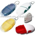 Two Compartments Pill Box with Keyring