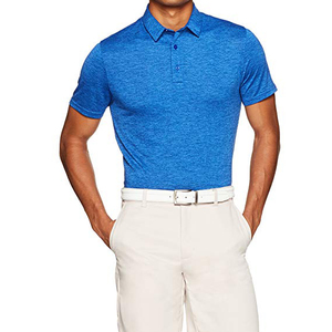 Polyester And Spandex Cationic Polo Men's Tech Stretch Polo Shirt