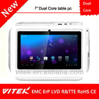 Wholesale Cheapest 7 Inch Dual Core 4G tablet pc with Support 55 languages