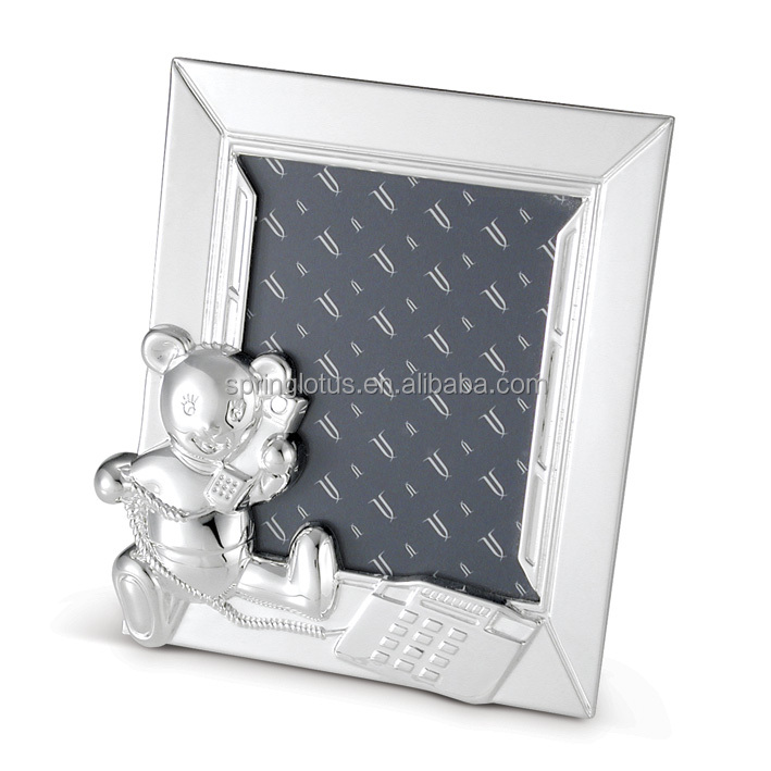 High Quality Metal Teddy Bear Picture Photo Frame